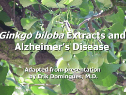 Ginkgo biloba Extracts and Alzheimer's Disease