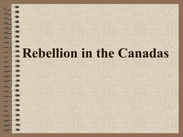 Rebellion in the Canadas