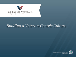 Building a Veteran-Centric Culture