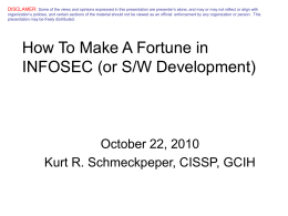 How and Why to be a CISSP and CEH