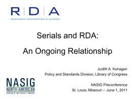 What Do You Need to Know? - rda-jsc