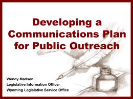 Developing a Communications Plan for