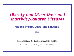 Diet-Related Disease: a leading cause of disability