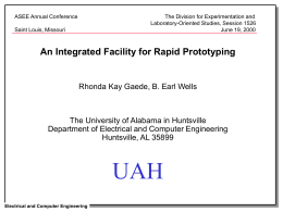Introduction - UAH - Engineering