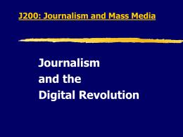 J301: Journalism History Week 7