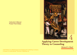 Applying Career Development Theory to Counseling, 4e