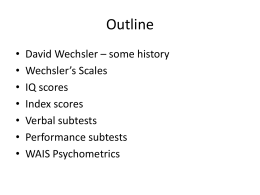 David Wechsler - Instructional Web Server