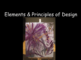 The ELEMENTS of art: line, shape, form, color, value