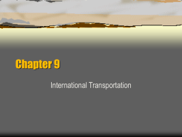 Chapter 9 International Transportation