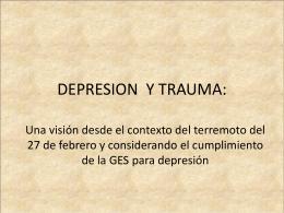 DEPRESION Y TRAUMA - Servicio de Salud del Maule