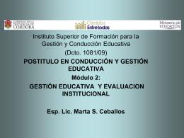 Licenciada y Profesora MARTA S. CEBALLOS