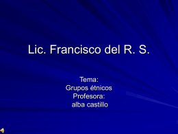 Lic. Fancisco del R. S.