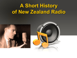 A Short History of New Zealand Radio