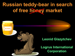 Russian teddy-bear plodding from jumble sale to the market
