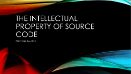 The intellectual property of source code