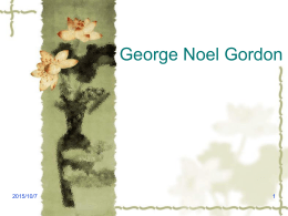 George Noel Gordon