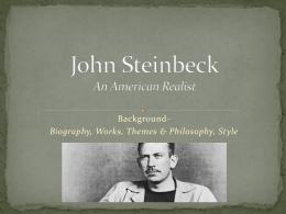 John Steinbeck An American Realist