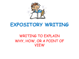 EXPOSITORY WRITING - Higley Unified School District