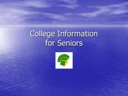 Senior College Information - Amphitheater Public Schools