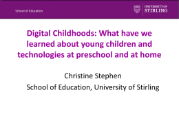 Digital Childhoods: What have we learned about young