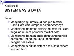 (4193312) SISTEM BASIS DATA