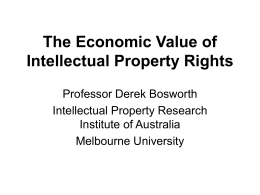 The Economic Value of Intellectual Property Rights