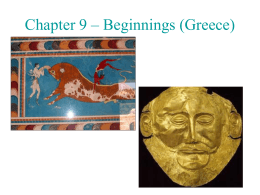 Chapter 9 – Beginnings (Greece)