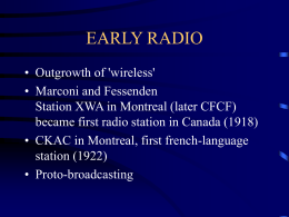 RADIO - University of Ottawa
