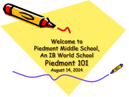 Welcome to Piedmont IB Middle School's Parent 101 …