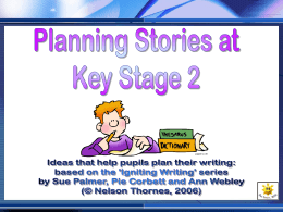 Planning Stories at Key Stage 2