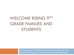 Nc department of public instruction: future