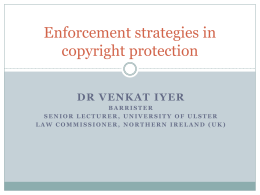Enforcement strategies in copyright protection