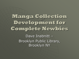 Manga Collection Development for Complete Beginners
