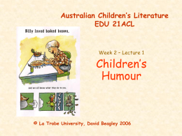 Australian Children's Literature EDU 21ACL