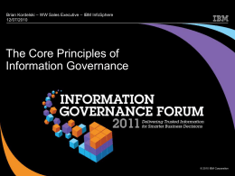 The Core Principles of Information Governance