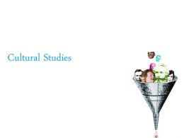 Cultural Studies - National Chiao Tung University