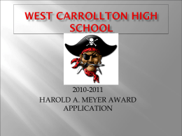WEST CARROLLTON HIGH SCHOOL