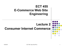 ECT455/HCI 513 Design & Strategies for Internet Commerce
