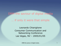 DRM the saviour of digital media