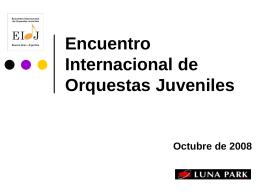 VII Encuentro Internacional de Orquestas Juveniles