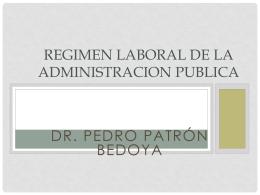 LEY MARCO DEL EMPLEO PUBLICO