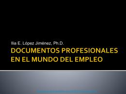 DOCUMENTOS PROFESIONALES EN EL MUNDO DEL …