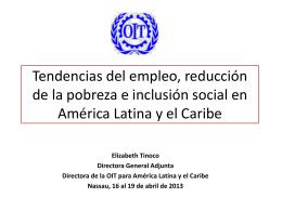 Tendencias del empleo y la cohesion social