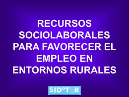 RECURSOS SOCIOLABORALES PARA FAVORECER EL …