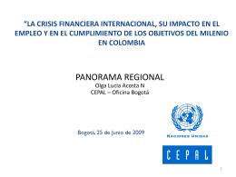 La crisis financiera internacional, su impacto en el