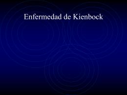 Enfermedad de Kienbock