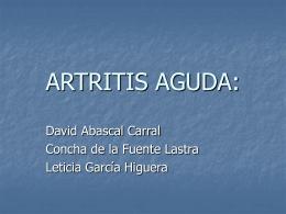 ARTRITIS AGUDA: