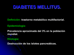 DIABETES MELLITUS. - Medicina Javeriana