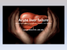 Acute liver failureLiver Intensive Therapy Unit William