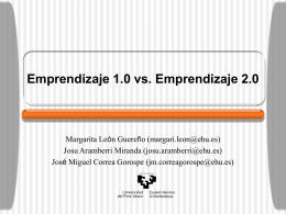 Emprendizaje 1.0 vs. Emprendizaje 2.0